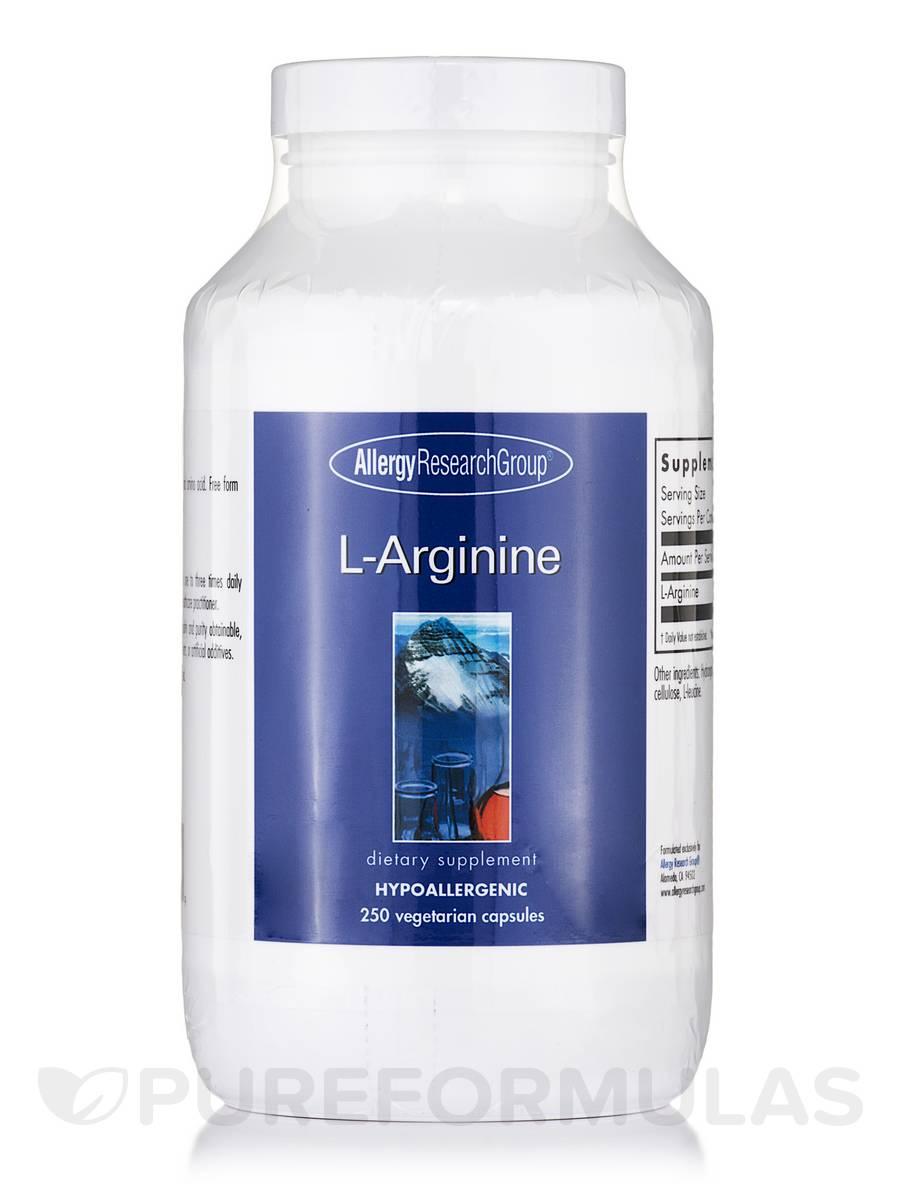 L-Arginine - 250 Vegetarian Capsules