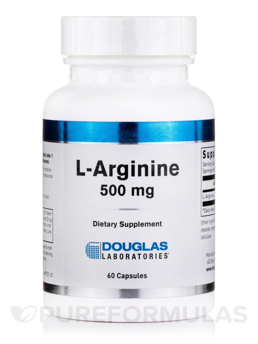 L-Arginine 500 mg - 60 Capsules