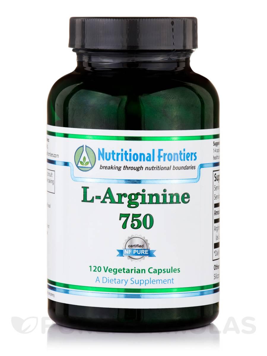 L-Arginine 750 mg - 120 Vegetarian Capsules