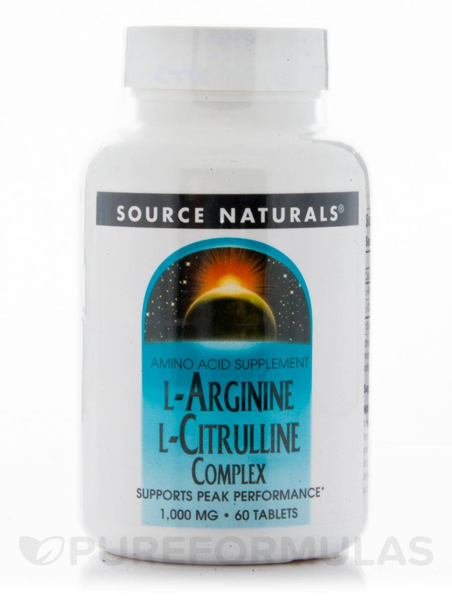 L-Arginine L-Citrulline Complex 1000 mg - 60 Tablets