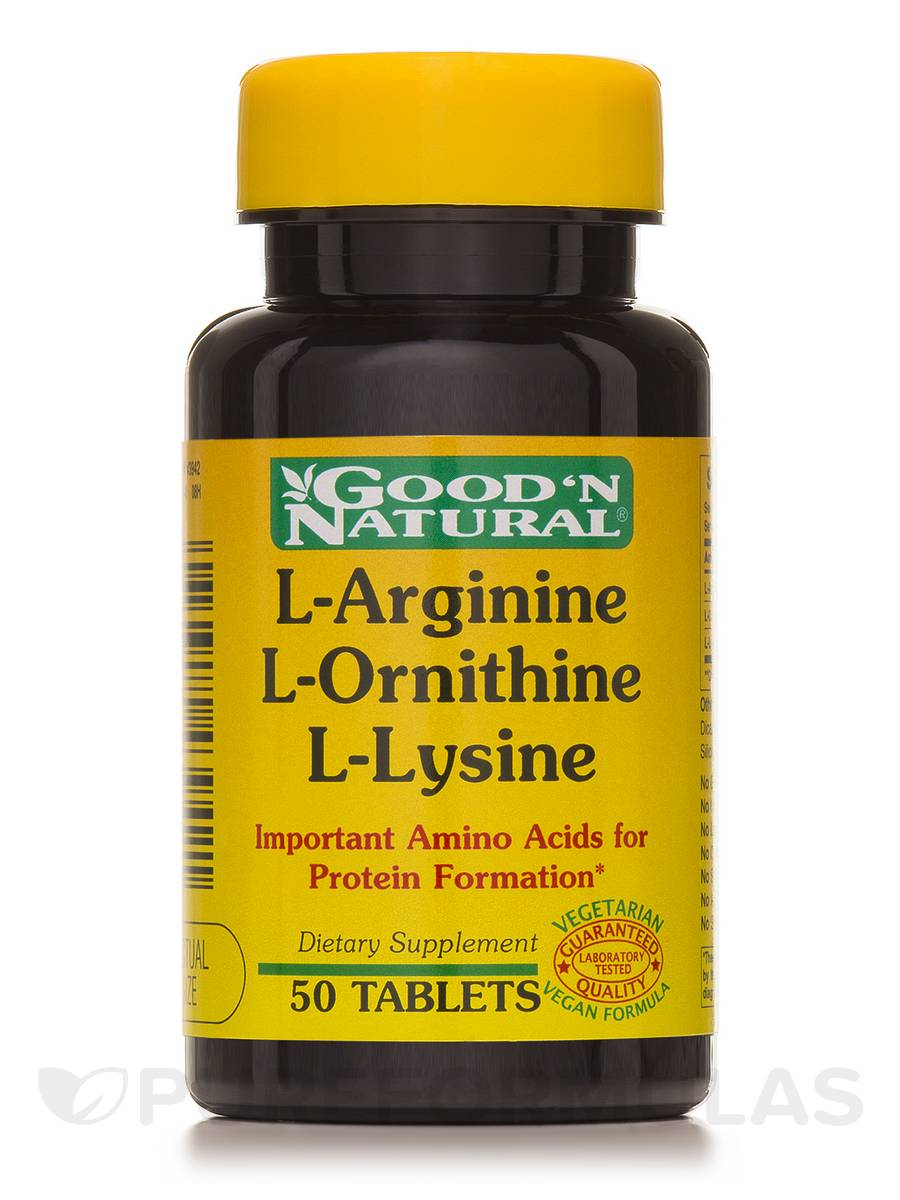 L arginine and l lysine supplements