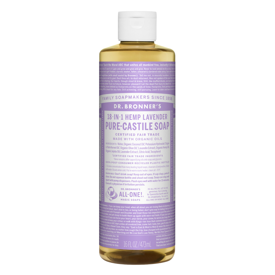 Lavender Oil Pure Castile Liquid Soap - 16 fl. oz (473 ml)