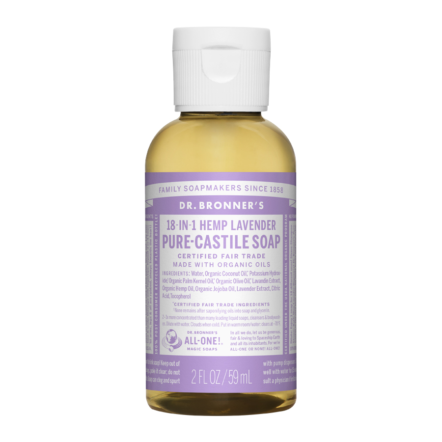 Lavender Oil Pure Castile Liquid Soap - 2 fl. oz (59 ml)