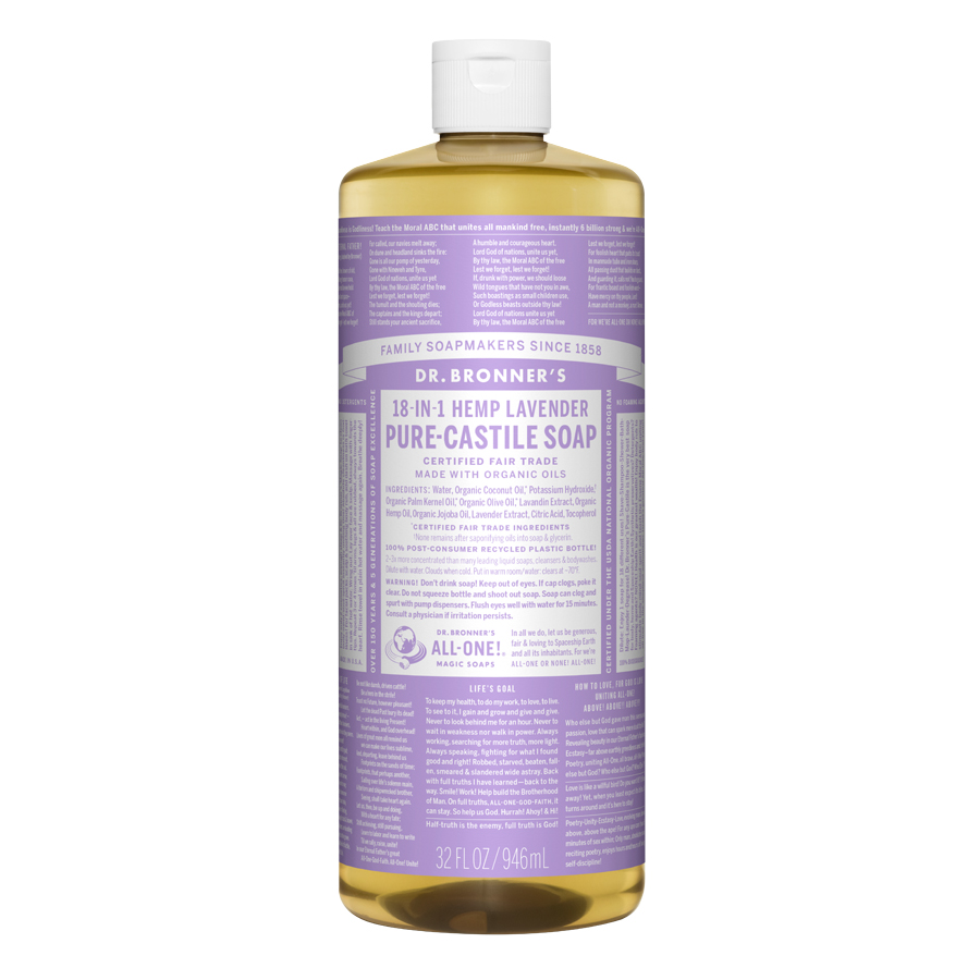 Lavender Oil Pure Castile Liquid Soap - 32 fl. oz (946 ml)