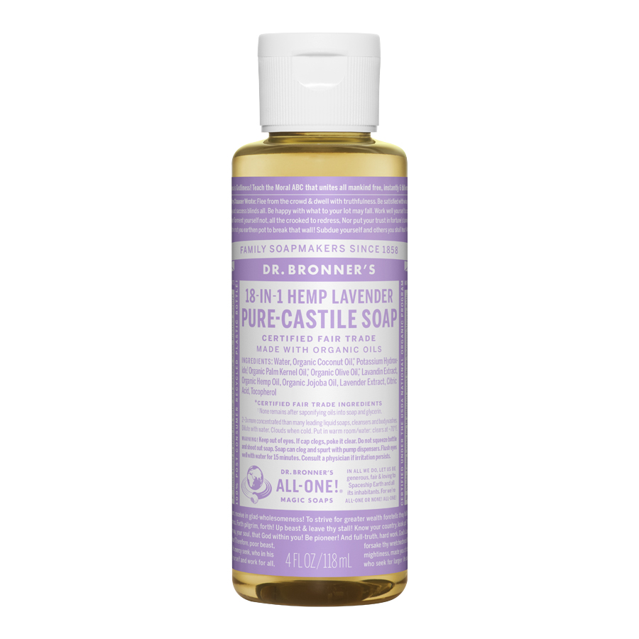 Lavender Oil Pure Castile Liquid Soap - 4 fl. oz (118 ml)