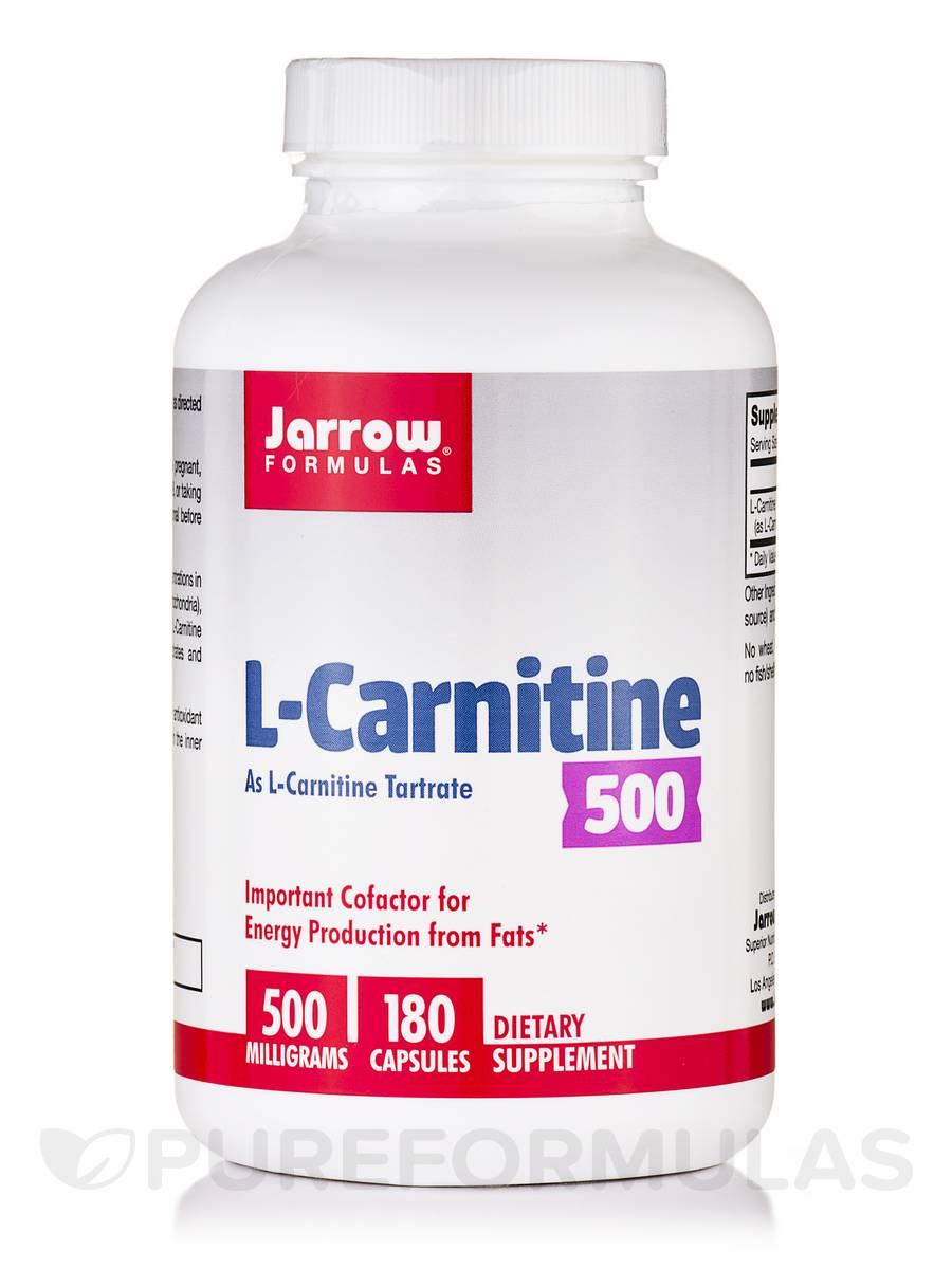 L-Carnitine 500 mg - 180 Capsules