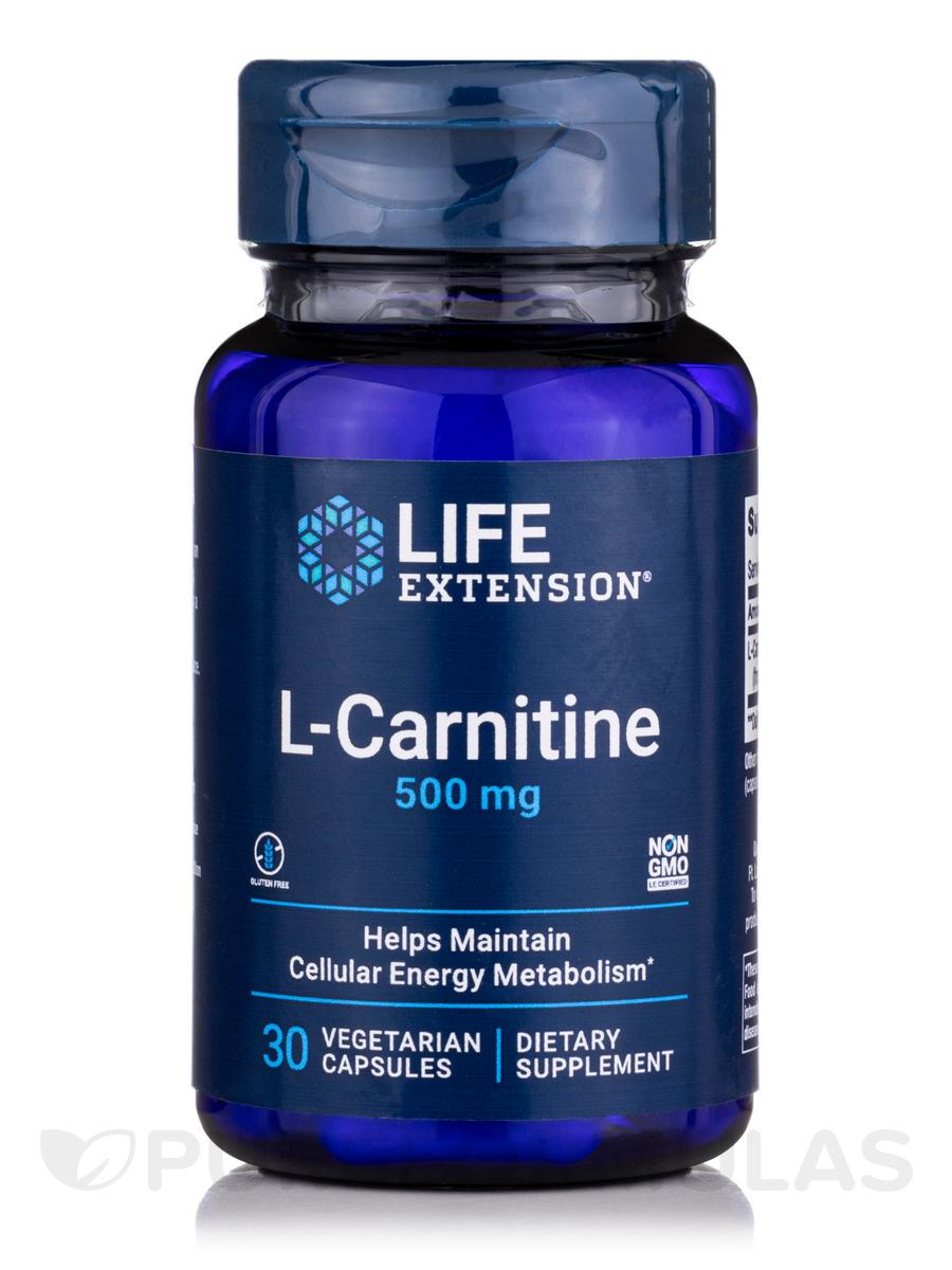 L-Carnitine 500 mg - 30 Vegetarian Capsules