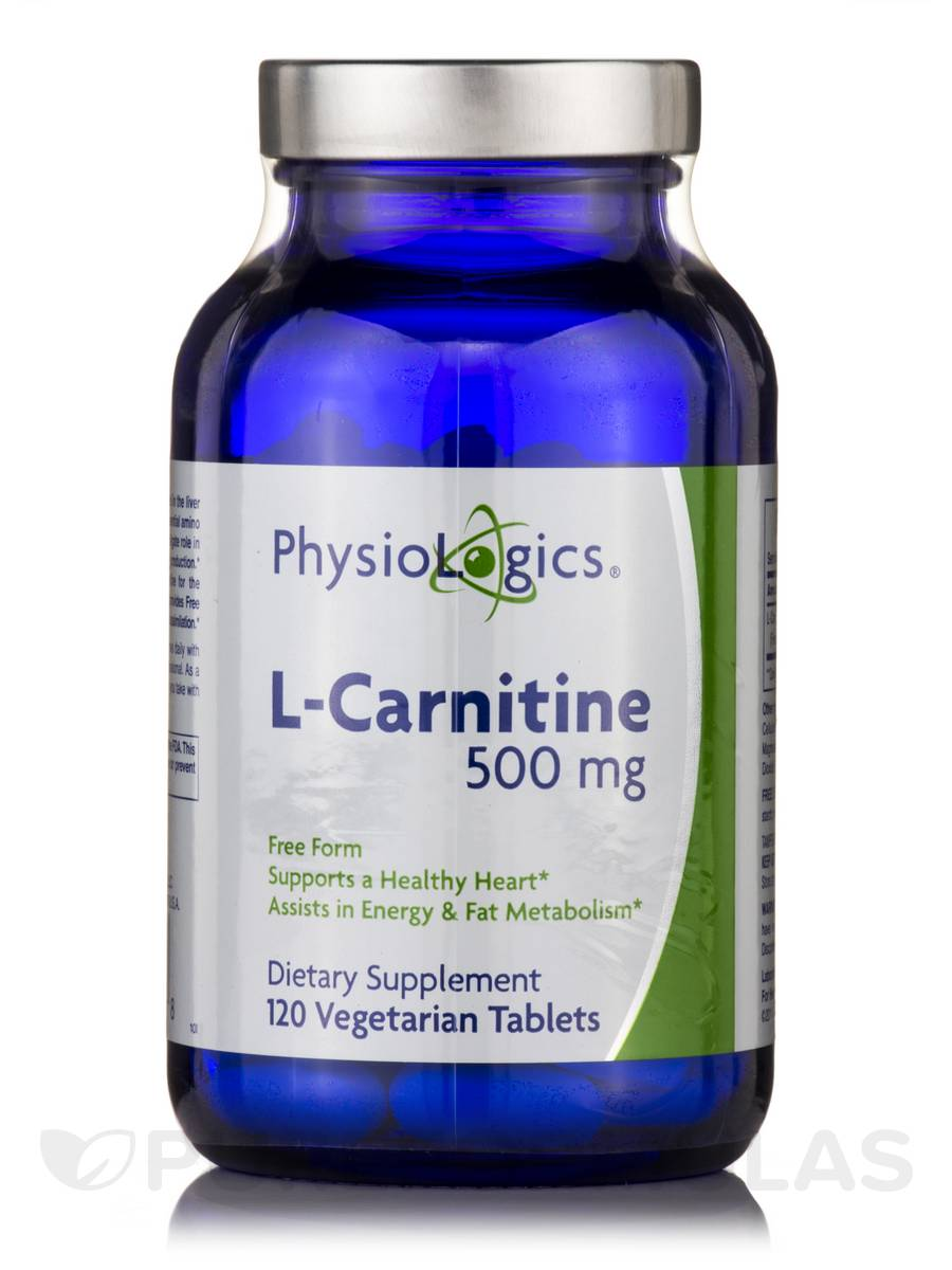 L-Carnitine 500 mg - 120 Vegetarian Tablets