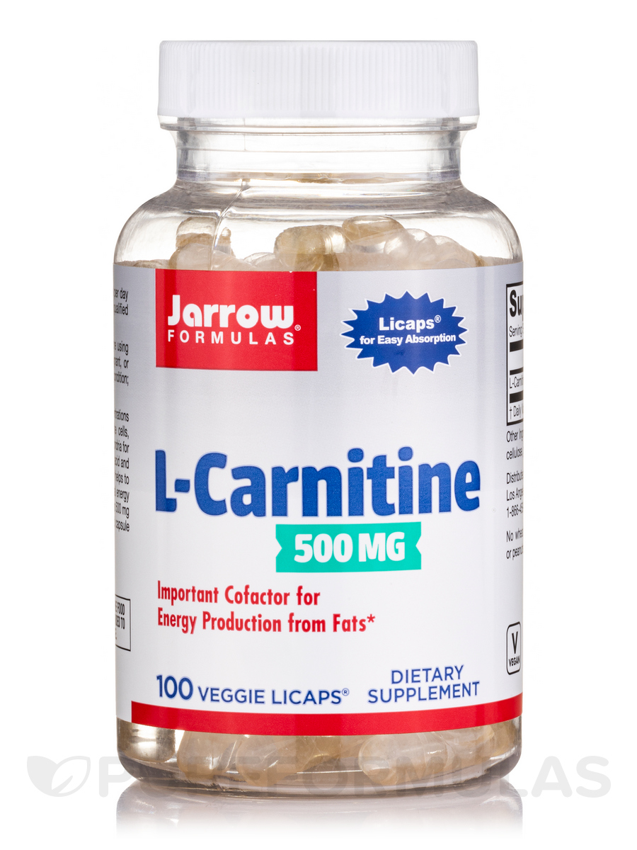 L-Carnitine Liquid Caps 500 mg - 100 Vegetarian Licaps®