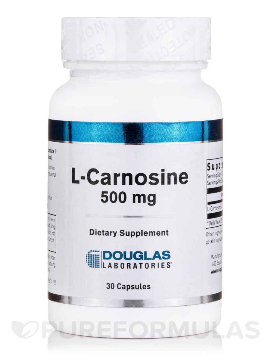 L-Carnosine 500 mg - 30 Capsules