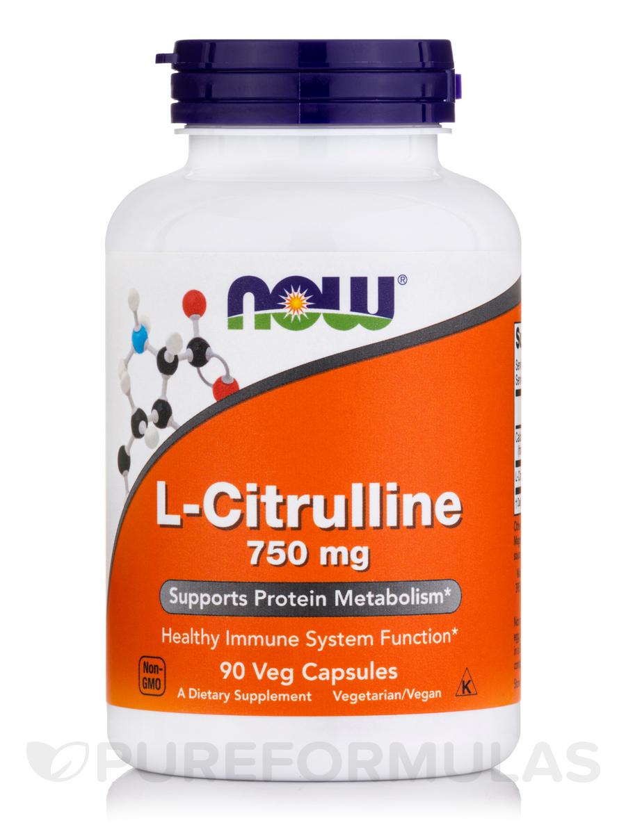 L-Citrulline 750 mg - 90 Veg Capsules
