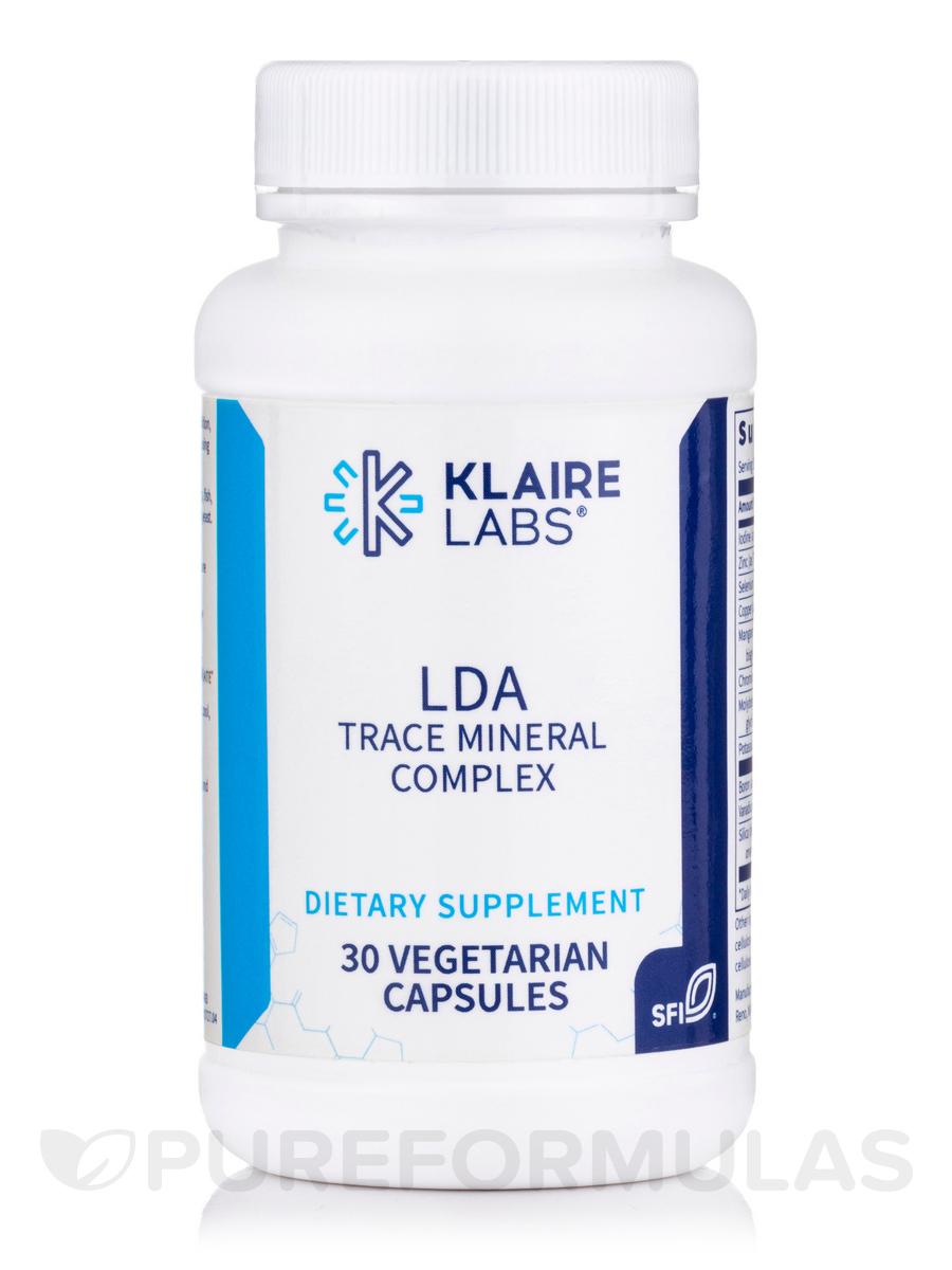 LDA Trace Mineral Complex - 30 Vegetarian Capsules