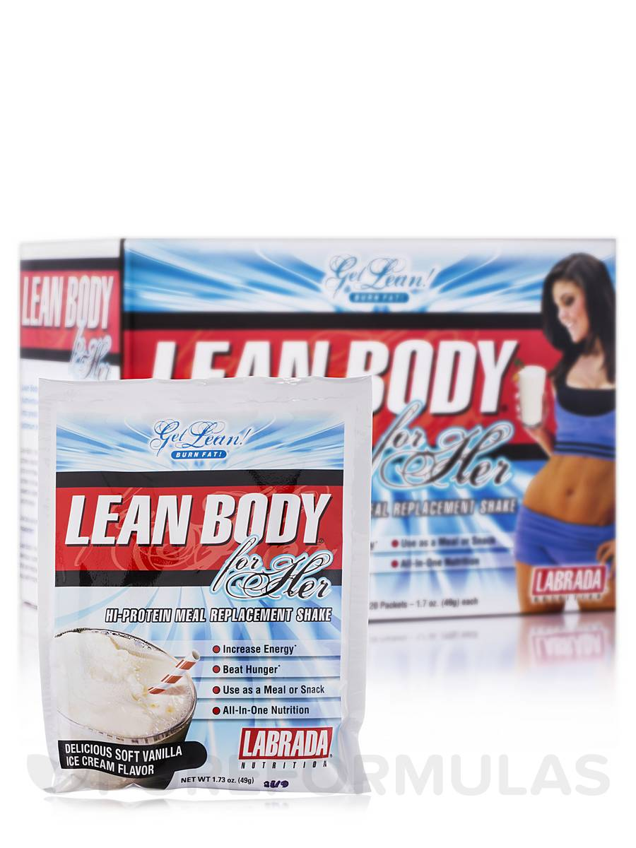LEAN BODY for Her MRP Vanilla Ice Cream - 20 Count