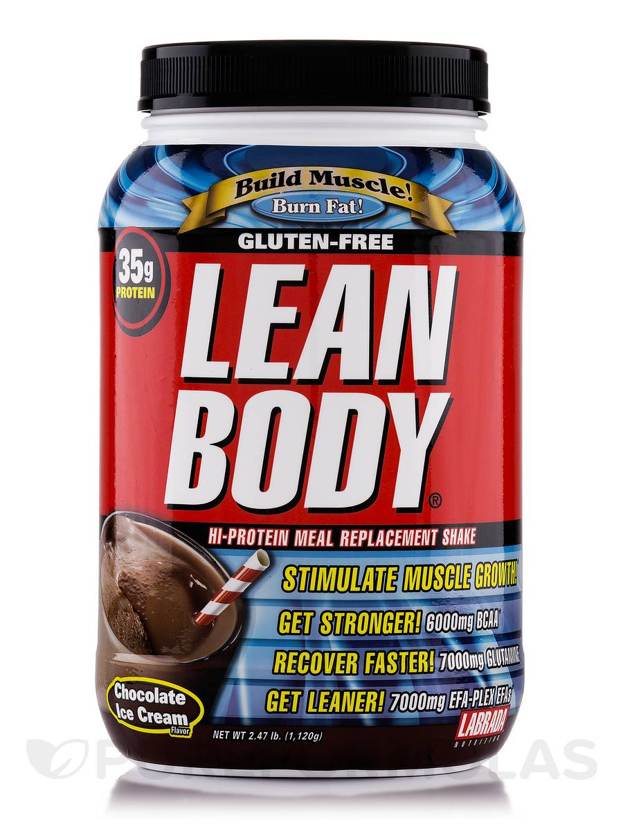 LEAN BODY Meal Replacement Chocolate Ice Cream - 2.47 lb (1,120 Grams)