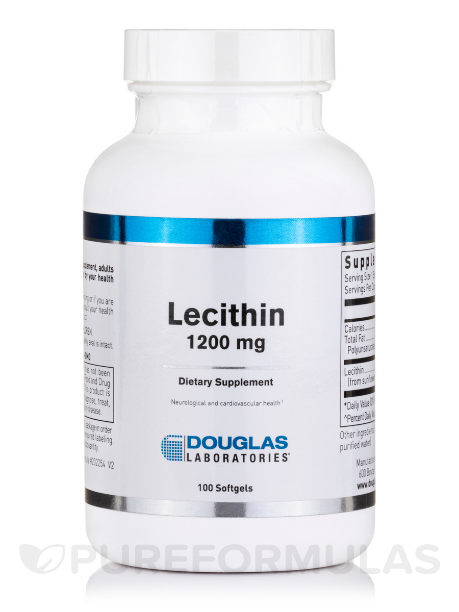 Lecithin 1200 mg - 100 Softgels