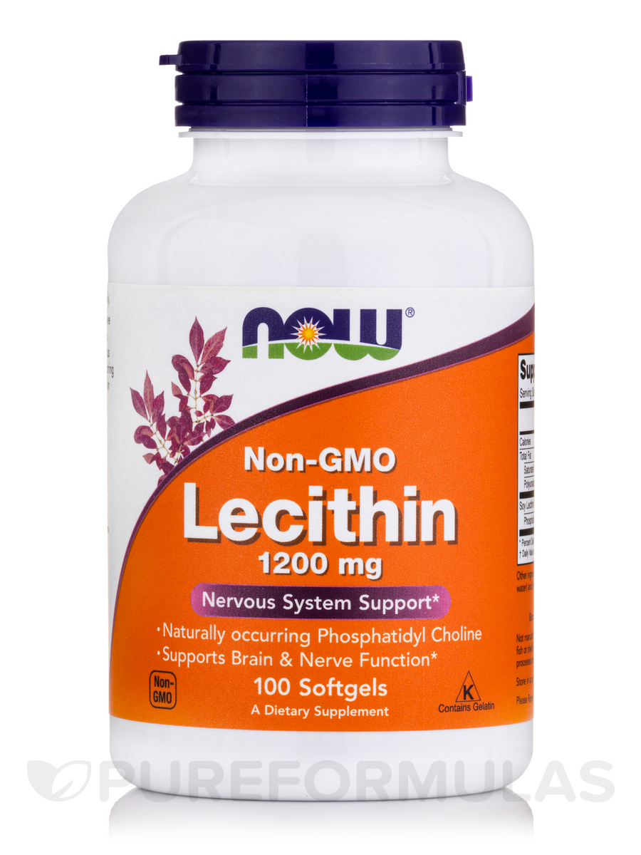Lecithin (Non-GMO) 1200 mg - 100 Softgels