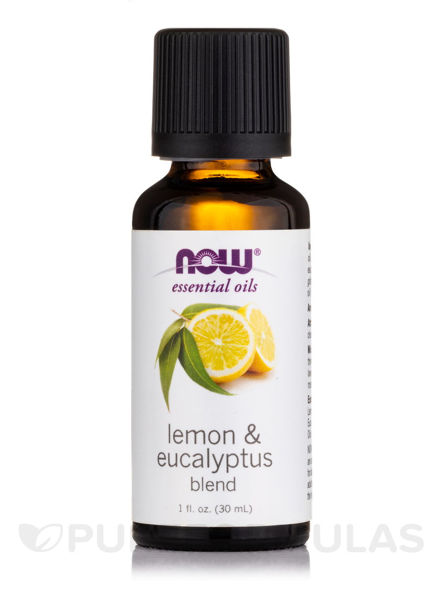 NOW® Essential Oils - Lemon Eucalyptus Oil (100% Pure) - 1 fl. oz (30 ml)