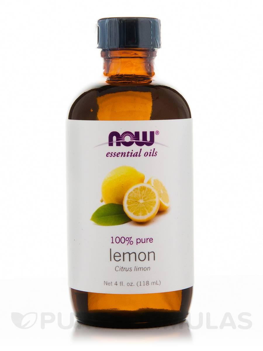 NOW® Essential Oils - Lemon Oil - 4 fl. oz (118 ml)