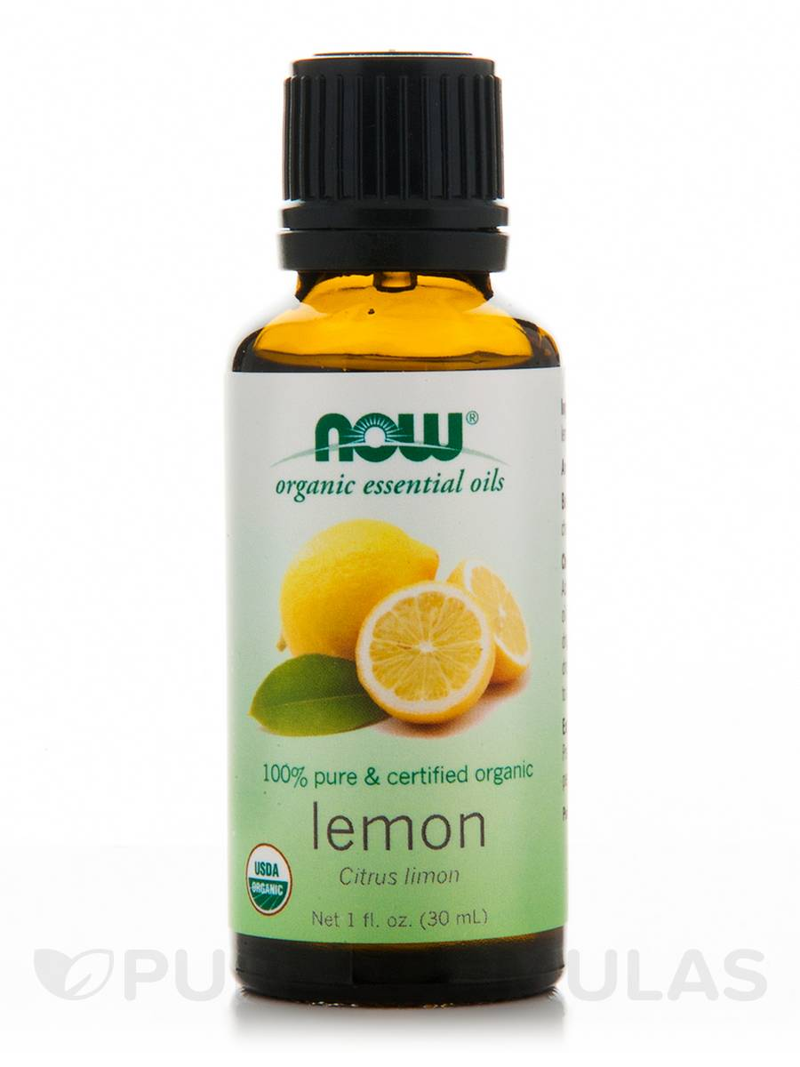 NOW® Organic Essential Oils - Lemon Oil - 1 fl. oz (30 ml)