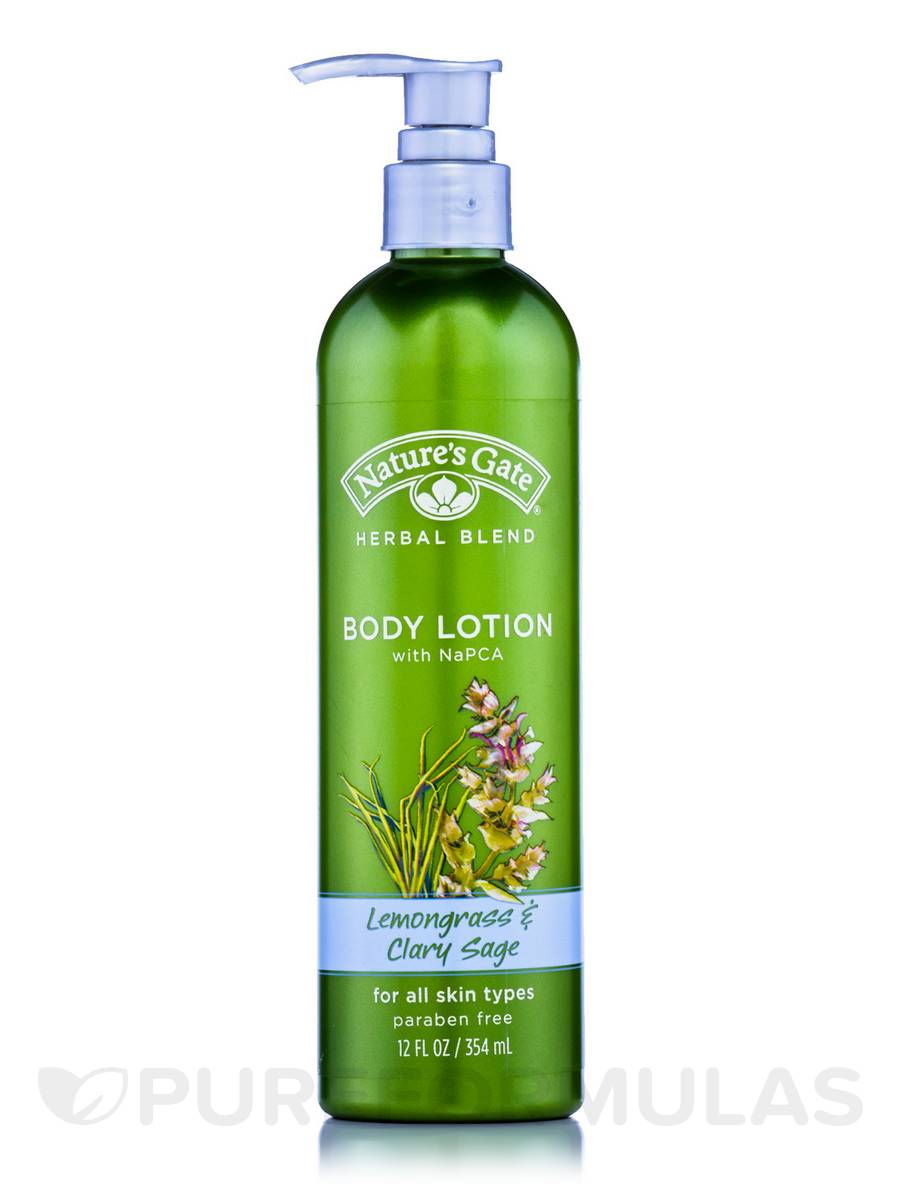 Lemongrass & Clary Sage Body Lotion (with NaPCA) - 12 fl. oz (354 ml)