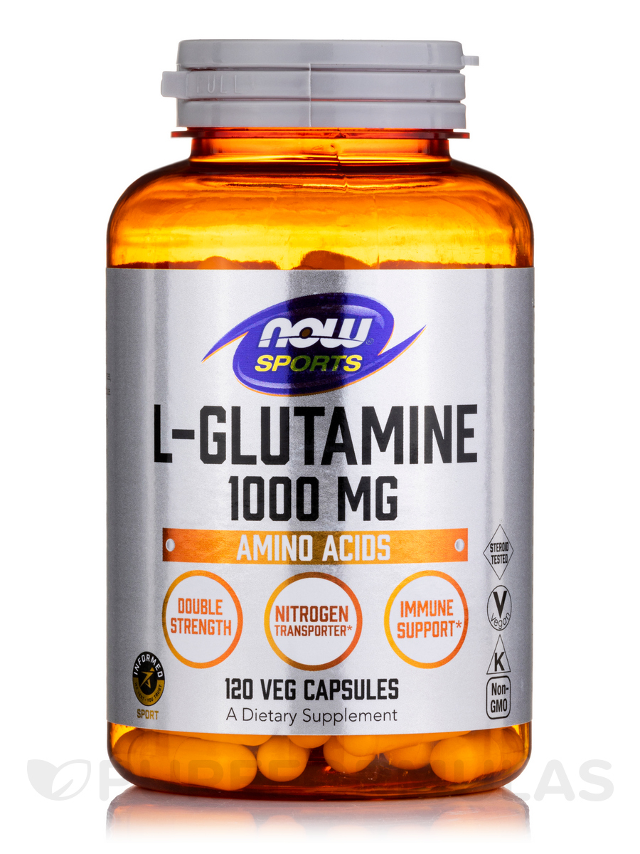 NOW® Sports - L-Glutamine 1000 mg - 120 Capsules