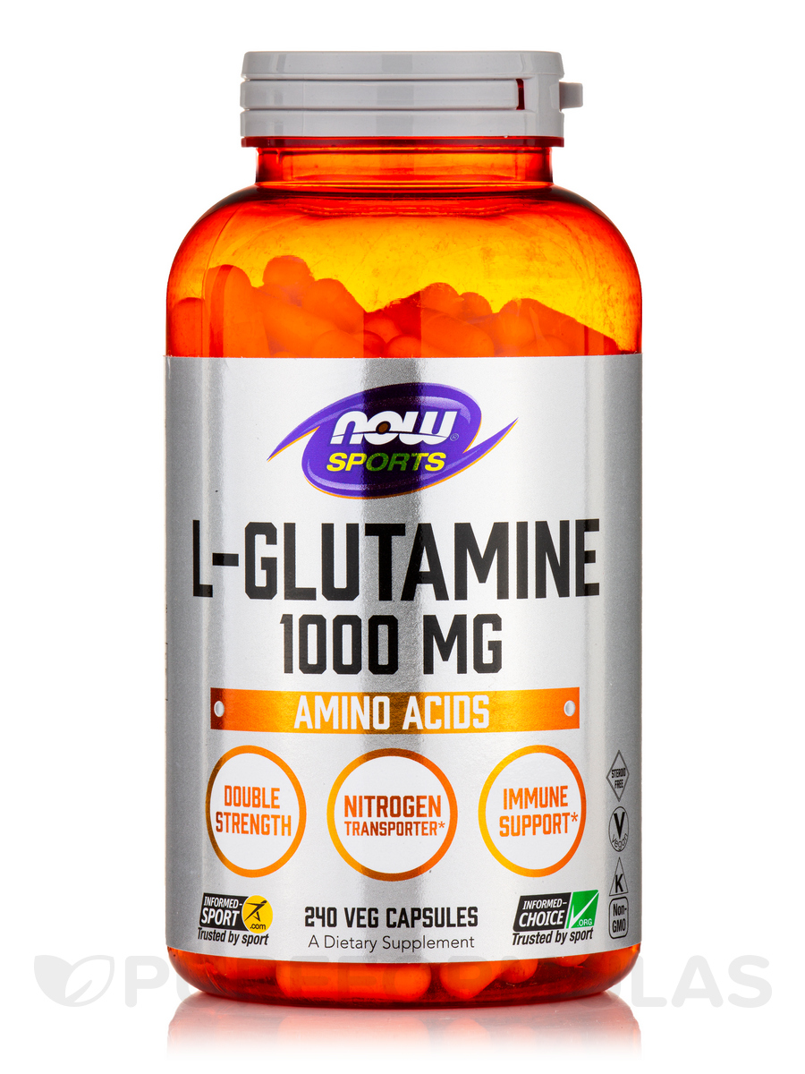 NOW® Sports - L-Glutamine 1000 mg - 240 Capsules