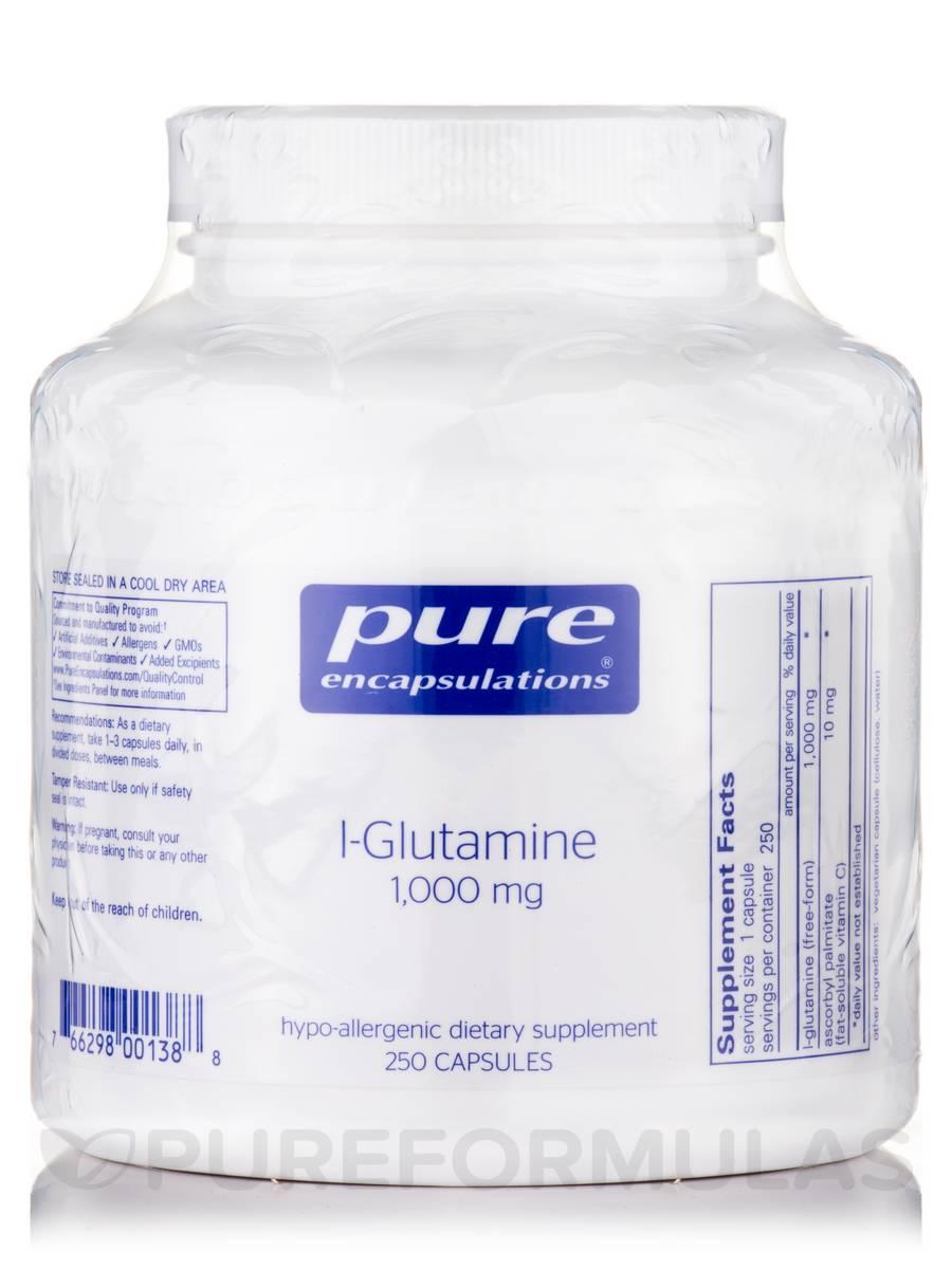 l-Glutamine 1,000 mg - 250 Capsules