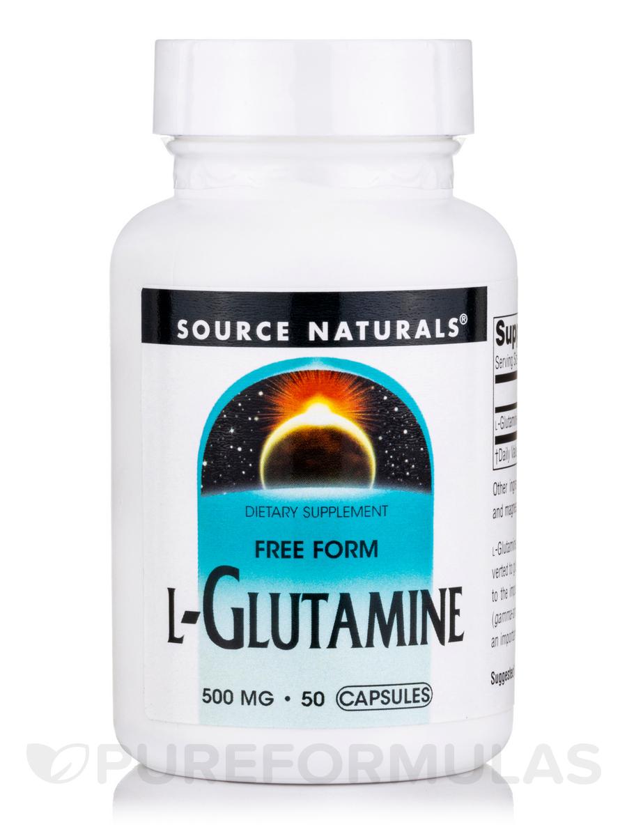 L-Glutamine 500 mg - 50 Capsules