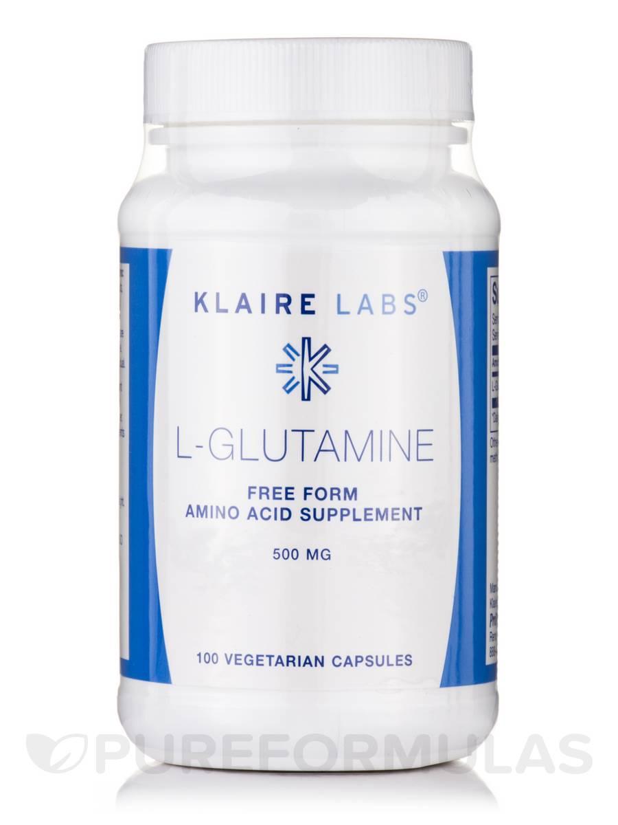 L-Glutamine 500 mg - 100 Vegetarian Capsules