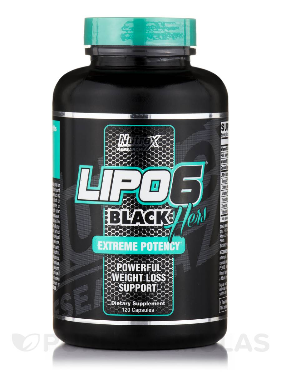 Lipo-6® Black Hers (Extreme Potency) - 120 Capsules