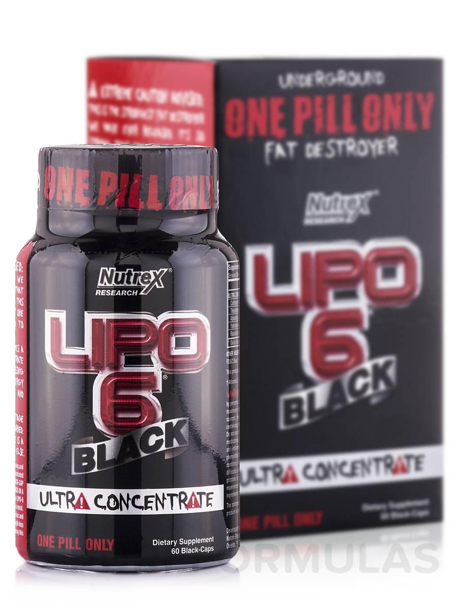 Lipo-6 Black Ultra Concentrate - 60 Black-Caps