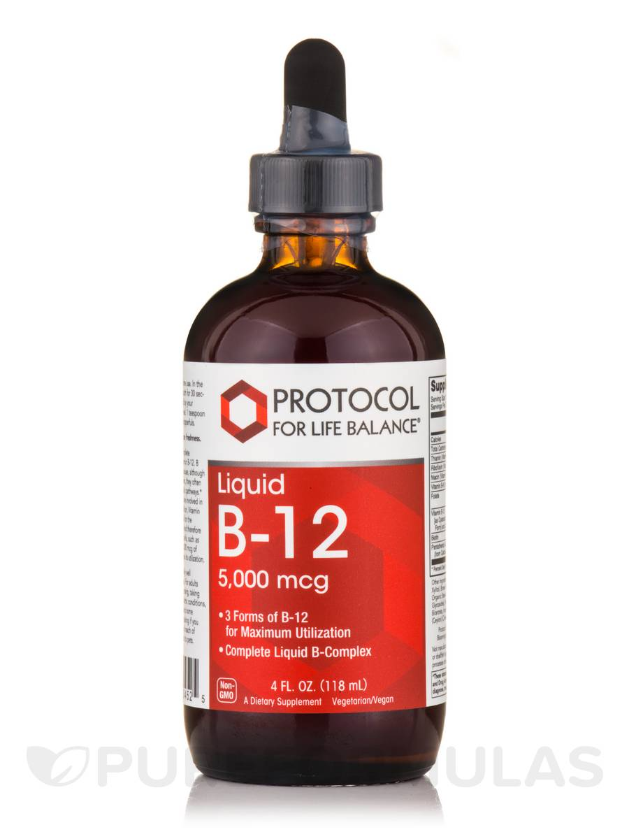 Liquid B-12 5000 mcg - 4 fl. oz (118 ml)