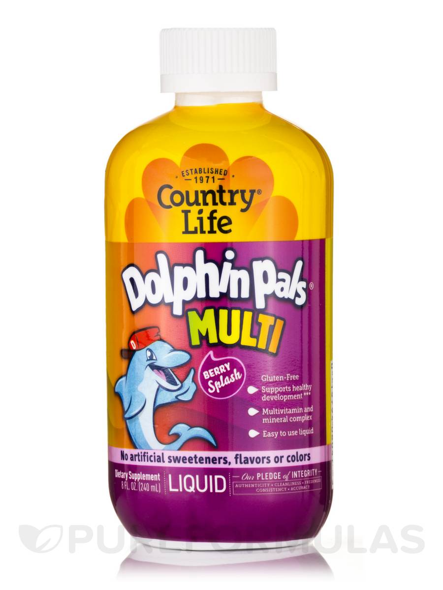 Liquid Dolphin Pals for Kids (Berry) - 8 fl. oz (240 ml)