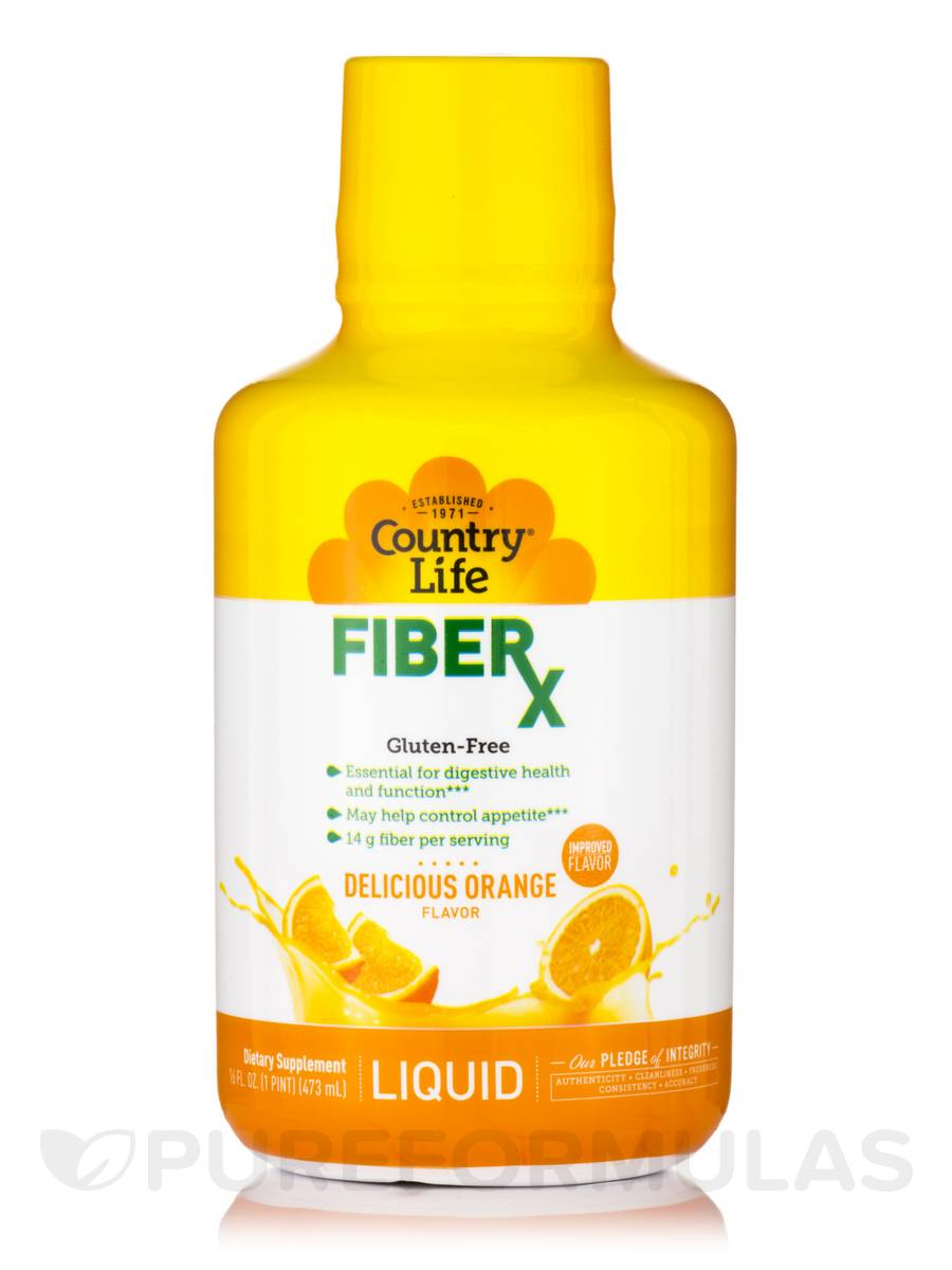 Liquid Fiber - Orange Flavor - 16 fl. oz (1 Pt / 473 ml)