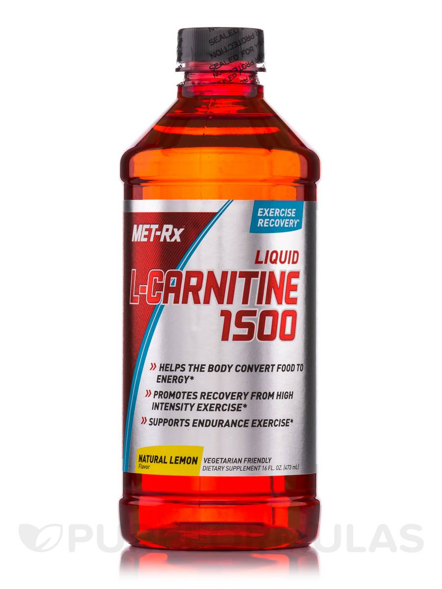 Liquid L-Carnitine 1500 Natural Lemon - 16 fl. oz (473 ml)