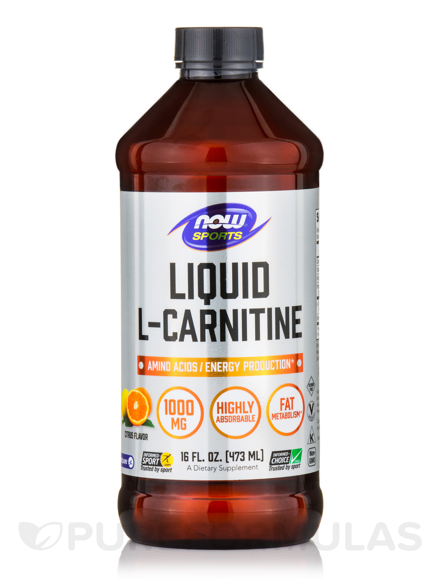 NOW® Sports - Liquid L-Carnitine (Citrus Flavor) 1000 mg - 16 fl. oz (473 ml)