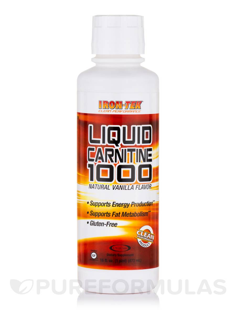 Liquid Carnitine 1000, Natural Vanilla Flavor - 16 fl. oz (473 ml)