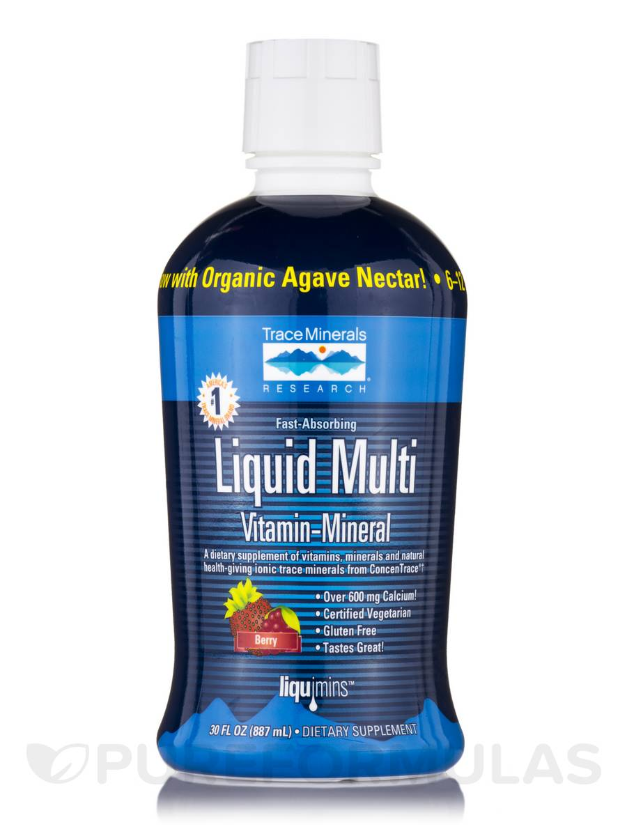 Liquid Multi Vitamin-Mineral (Berry Flavor) - 30 fl. oz (887 ml)