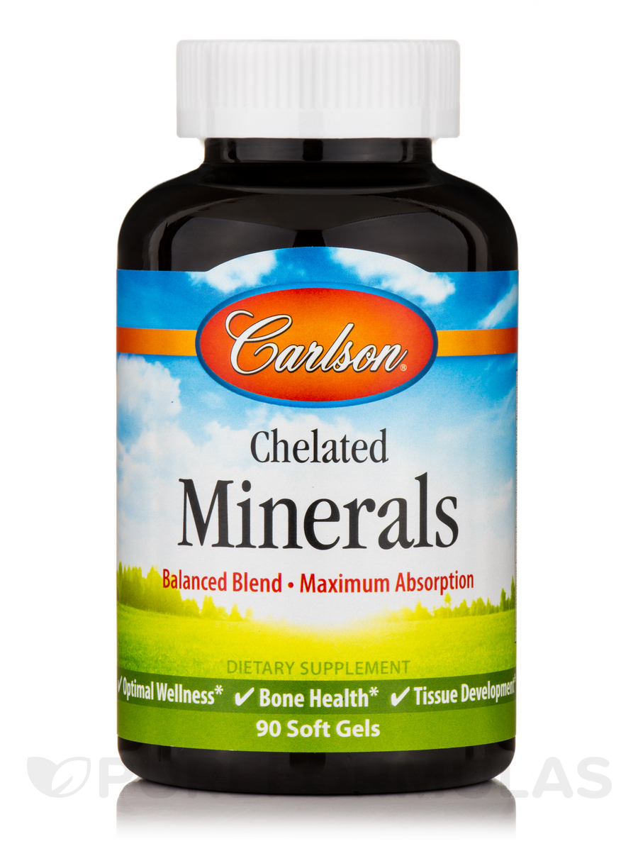 Chelated Minerals - 90 Soft Gels