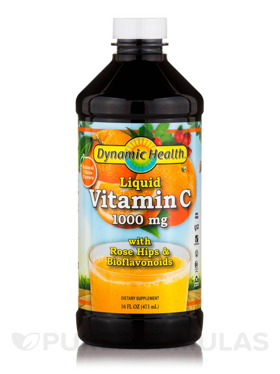 Liquid Vitamin C 1000 mg, Natural Citrus Flavor - 16 fl. oz (473 ml)