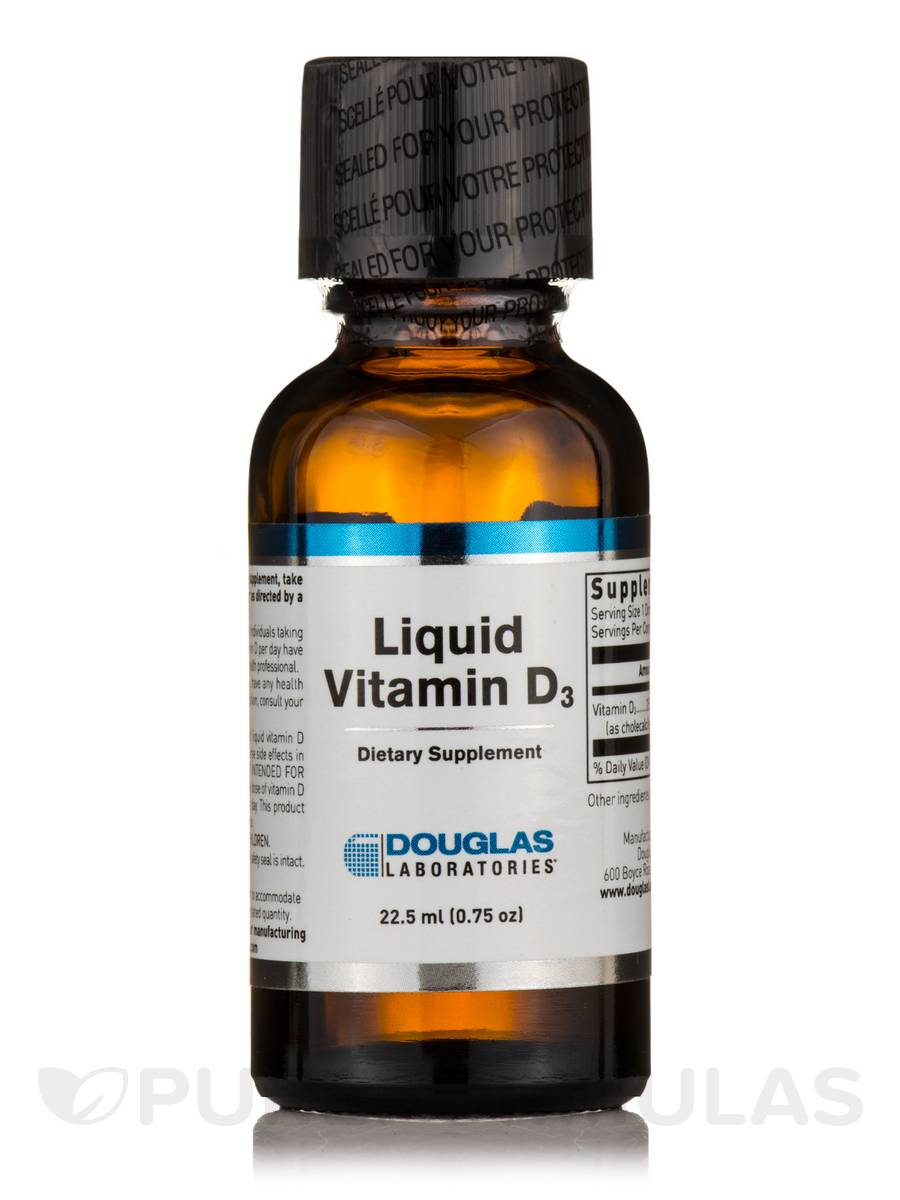 Liquid Vitamin D-3 - 1.0 fl. oz (30 ml)