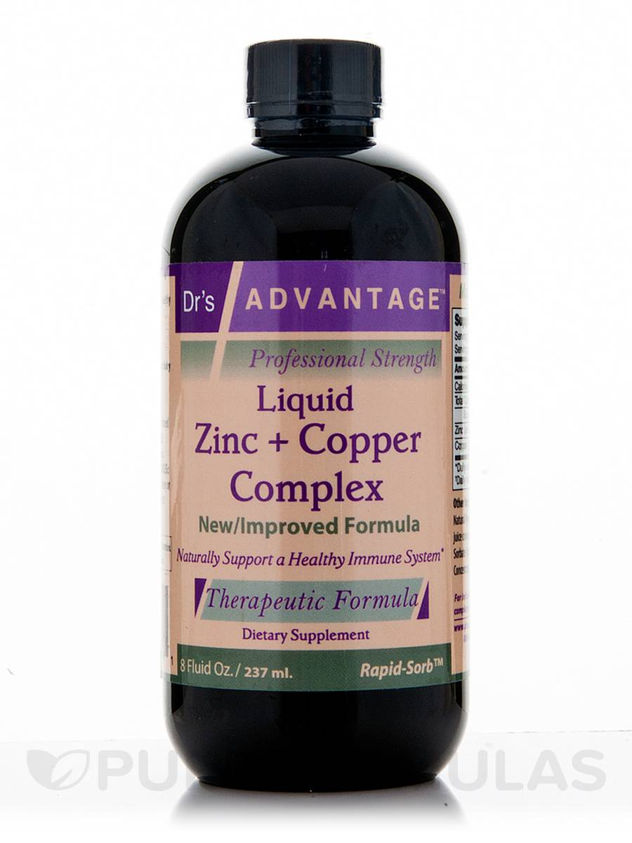 Liquid Zinc And Copper Complex 8 Fl Oz 237 Ml