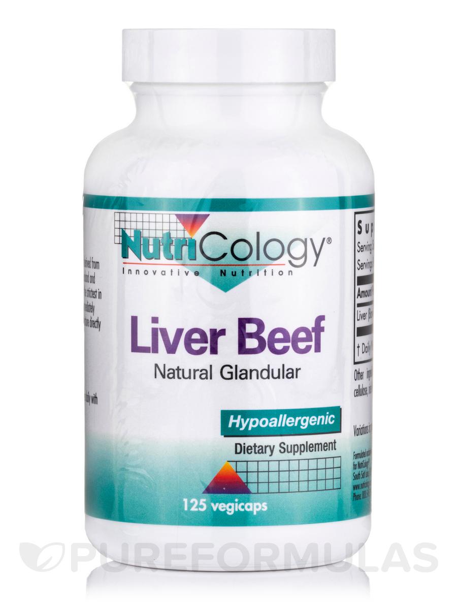 Liver Beef (Natural Glandular) - 125 Vegicaps