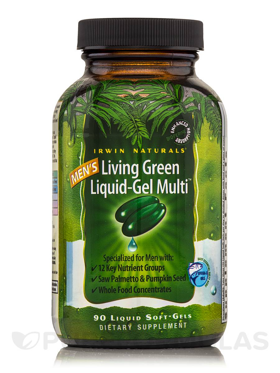 Living Green Liquid Gel Multi for Men - 90 Liquid Soft-Gels