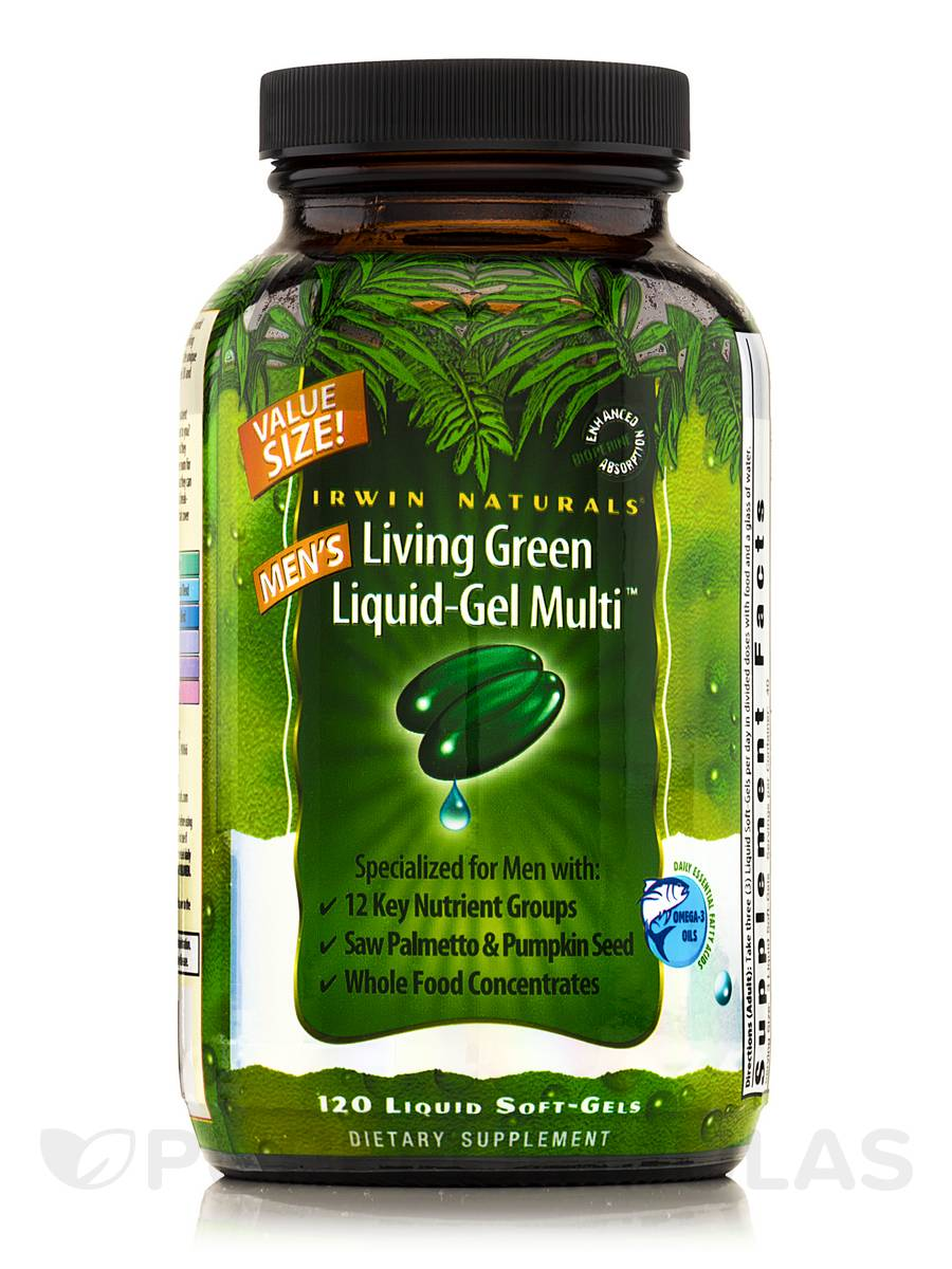 Living Green Liquid Gel Multi for Men - 120 Liquid Soft-Gels