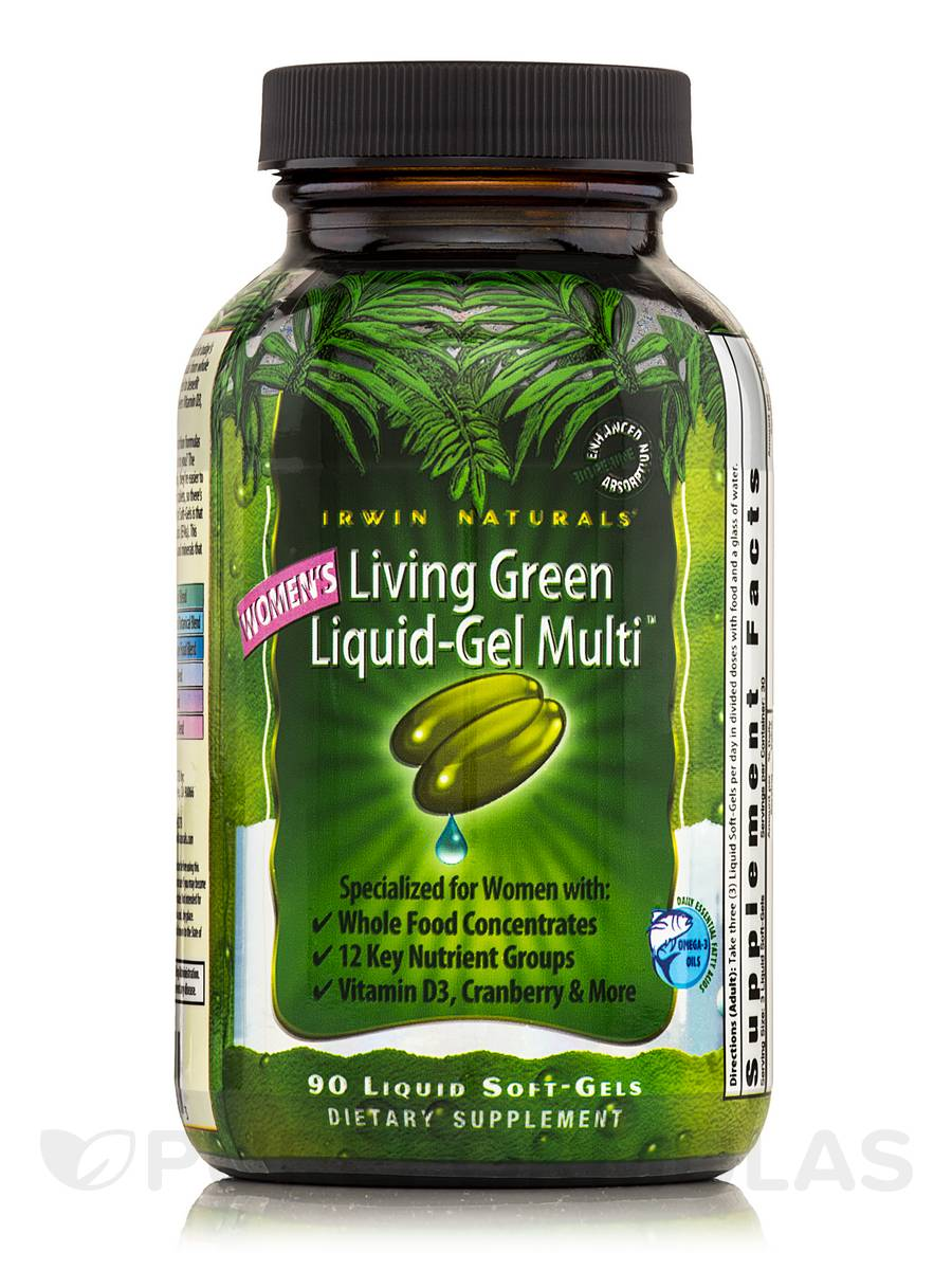 Living Green Liquid Gel Multi for Women - 90 Liquid Soft-Gels