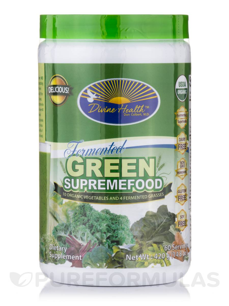 Fermented Green SupremeFood - 60 Servings (14.8 oz / 420 Grams)