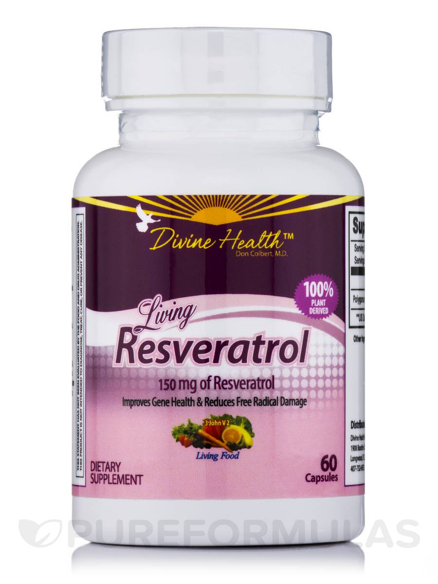 Living Resveratrol 150 mg - 60 Capsules