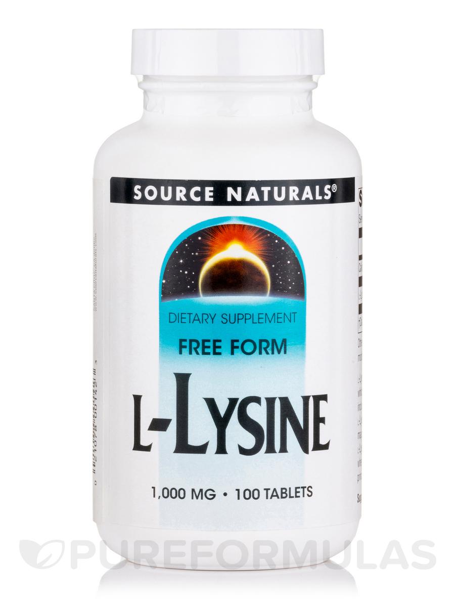 L-Lysine 1000 mg - 100 Tablets