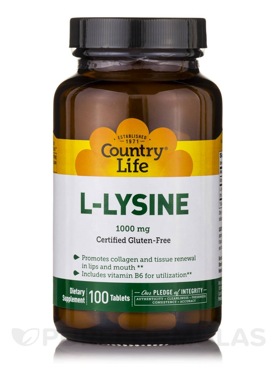 L-Lysine 1000 mg with B-6 - 100 Tablets